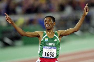 Men's 10000m final Haile Gebreselassie (© Allsport)