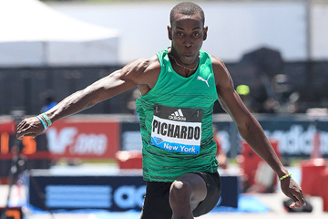 Pedro Pablo Pichardo, winner of the triple jump at the IAAF Diamond League meeting in New York (Victah Sailer)