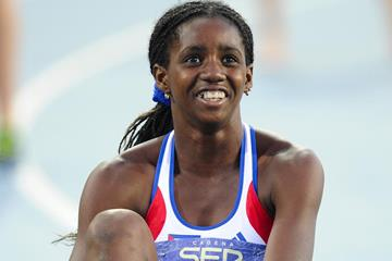 Yorgelis Rodriguez of Cuba celebrates after winning heptathlon gold at the IAAF World Junior Championships (Getty Images)