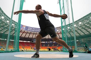 Robert Harting in the men's discus at the IAAF World Championships, Moscow 2013 (Getty Images)