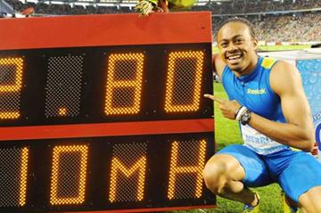 Aries Merritt and his World record numbers in Brussels (Jiro Mochizuki)