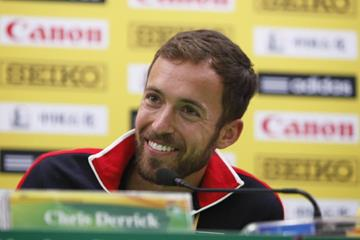 Chris Derrick at the press conference for the IAAF World Cross Country Championships, Guiyang 2015 (Getty Images)