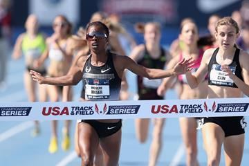 Treniere Moser, winner of the 1500m at the 2013 US Championships (Getty Images)