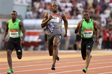 Usain Bolt - 9.91 in Ostrava (graf.cz)