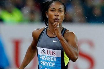 Shelly-Ann Fraser-Pryce, 10.83 in the Zurich chill (Gladys Chai van der Laage)