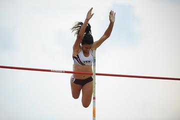 Venezuelan pole vaulter Robeilys Peinado (Getty Images)