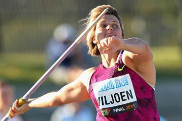 Sunette Viljoen, winner of the javelin in Melbourne (Getty Images)