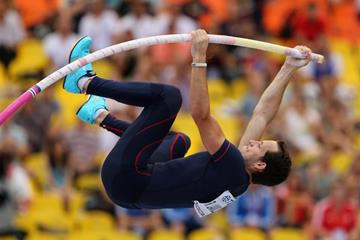 Renaud Lavillenie in the men's Pole Vault at the IAAF World Athletics Championships Moscow 2013 (Getty Images)