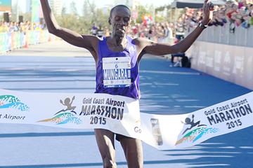 Kenneth Mungara wins the Gold Coast Marathon (Organisers)