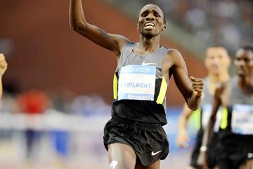 Silas Kiplagat winning the Brussels 1500m (Jiro Mochizuki)