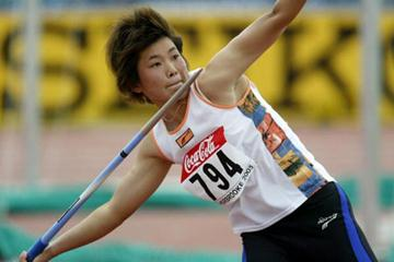 Juan Xue of China wins the Javelin Throw in Sherbrooke (Getty Images)