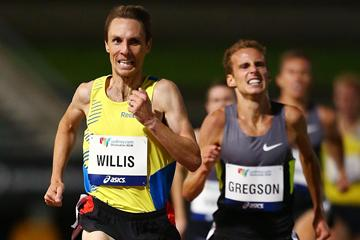 Nick Willis wins the 1500m in Sydney (Getty Images)