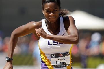 US sprint hurdler Jasmin Stowers  (Getty Images)