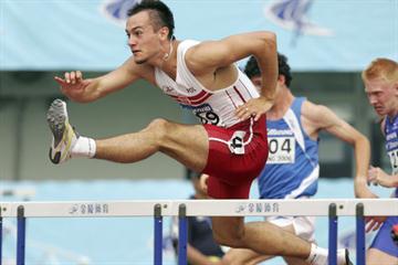 Artur Noga of Poland winner of the men's 110m Hurdles in Beijing (Getty Images)