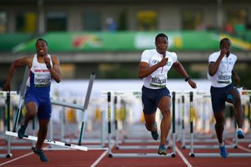 Wilhem Belocian wins the 110m hurdles at the IAAF World Junior Championships, Oregon 2014 (Getty Images)