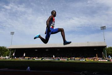 Lazaro Martinez on his way to gold in the triple jump at the IAAF World Junior Championships, Oregon 2014 (Getty Images)