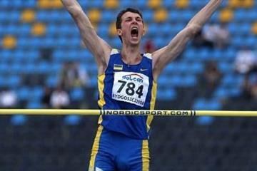 Bohdan Bondarenko of Ukraine celebrates his winning jump in the Final of the Men's High Jump (Getty Images)