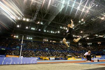 Greg Rutherford, winner of the long jump in Birmingham (Getty Images)