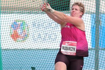 Anita Wlodarcyzk at the Rieti 2013 IAAF World Challenge meeting (Giancarlo Colombo)