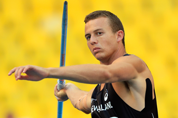 New Zealand's Brent Newdick in action in the decathlon javelin (Getty Images)