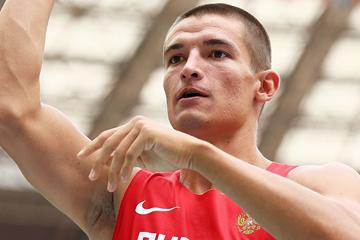 Russia's Ilya Shkurenev in the decathlon shot put (Getty Images)
