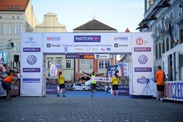 Geoffrey Kipsang wins the Ceske Budejovice Half Marathon (Organisers)