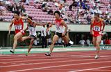 China's Su Bingtian wins the 100m (Yohei KAMIYAMA/Agence SHOT)