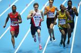 Kyle Clemons in the 400m heats at the IAAF World Indoor Championships in Sopot (Getty Images)