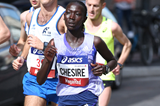 Rebecca Kangogo Chesire on her way to winning the Stramilano Half Marathon (Giancarlo Colombo)