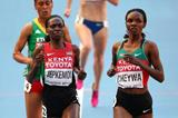 Milcah Chemos wins her 3000m steeplechase heat at the 14th IAAF World Athletics Championships Moscow 2013 (Getty Images)