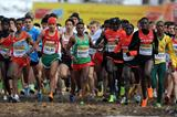 Hagos Gebrhiwet (ETH) leads the junior men's race at the 2013 IAAF World Cross Country Championships, Bydgoszcz, Poland  (Getty Images)