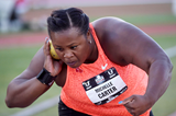Michelle Carter at the 2015 US Championships (Kirby Lee)