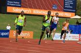 Kirani James winning the 400m at the 2014 IAAF Diamond League meeting in Birmingham (Jean-Pierre Durand)