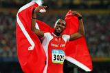 Richard Thompson (TRI) celebrates in Beijing (Getty Images)