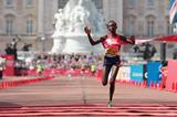 The clock may be a second off, but no matter to Mary Keitany who takes a second straight London Marathon victory (Getty Images)