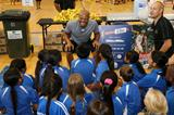 Long jump world record-holder Mike Powell at the IAAF / Nestle Kids' Athletics initiative in Auckland (Organisers)