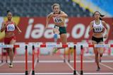 Helene Swanepoel, Samantha Gonzalez and Stephanie Cho in the girls 400m Hurdles at the IAAF World Youth Championships 2013 (Getty Images)