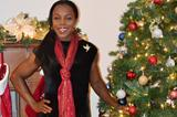 Veronica Campbell-Brown at Christmas (Omar Brown)