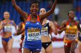Sifan Hassan wins the 1500m at the IAAF Continental Cup, Marrakech 2014 (Getty Images)