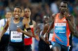 Upset in Zurich - Mohammed Aman defeats David Rudisha (Gladys Chai van der Laage)