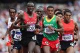 Hagos Gebrhiwet and Isiah Koech lead the pack in their 5000m heat at the London 2012 Olympics (Getty Images)