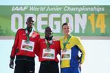 The 800m medallists at the IAAF World Junior Championships, Oregon 2014 (Getty Images)