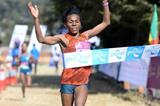 Wude Ayalew takes her third win at the Great Ethiopian Run (Jiro Mochizuki)