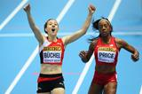 Selina Buchel wins her 800m heat at the 2014 IAAF World Indoor Championships in Sopot (Getty Images)