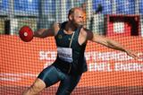 German discus thrower Robert Harting on his way to victory at the IAAF Diamond League meeting in Rome (Gladys Chai van der Laage)