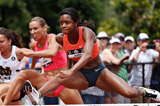Jasmin Stowers in action in the 100m hurdles (Getty Images)