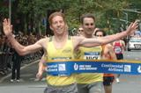 Kevin Sullivan winning the Fifth Avenue Mile (Courtesy of New York Road Runners)