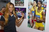Shelly-Ann Fraser-Pryce in Shanghai ahead of the 2014 IAAF Diamond League meeting (Errol Anderson)