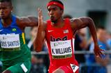 Kendal Williams of the US in the 100m at the IAAF World Junior Championships, Oregon 2014 (Getty Images)