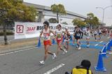 Eiki Takahashi leads the 20km at the Japanese Race Walking Championships (JAAF)